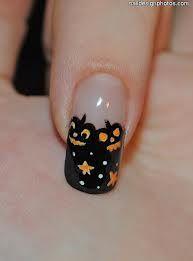 cute lil jackolantern design  halloween nails easy