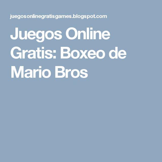 Juegos Online Gratis: Boxeo de Mario Bros
