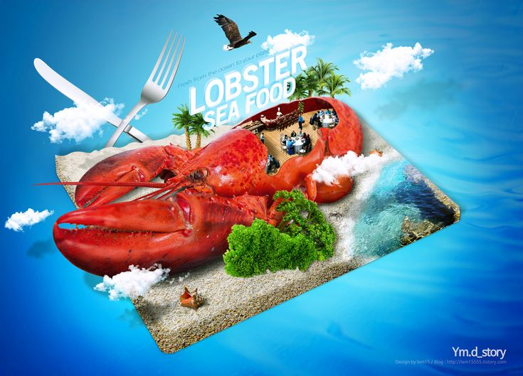 Photoshop Artwork #06 - Lobster :: Ym.d_story