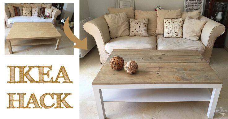 """Ya sabéis que me fascinan los """"antes y después"""", y esta mesa de centro Ikea Lack era perfecta para tunearla y conseguir una pieza especial."""