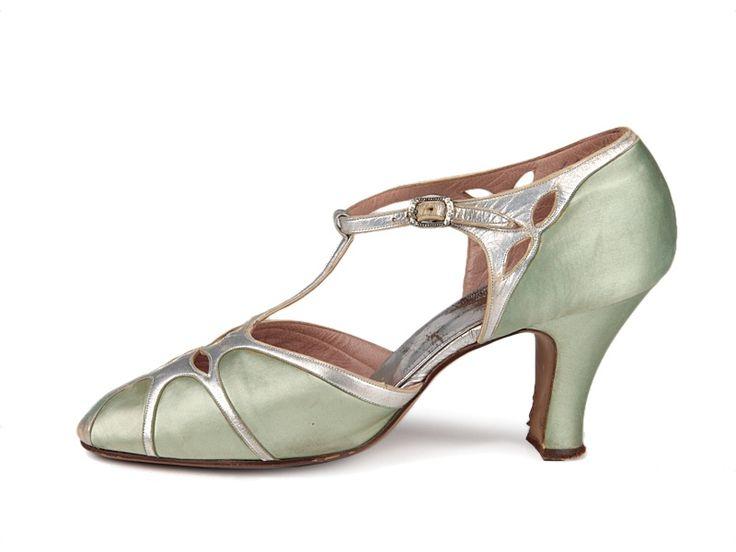 D'Orsay satin shoes,c. 1926-1928