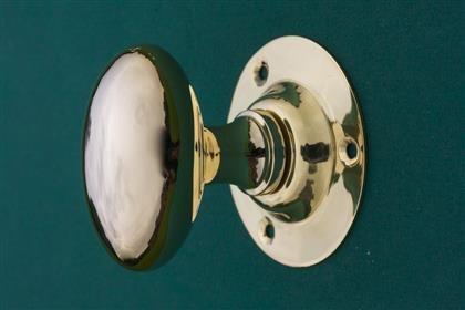 Classic Oval Brass Door Knobs