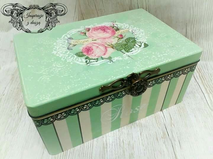 #decoupage #paris #shabby #box #handmade