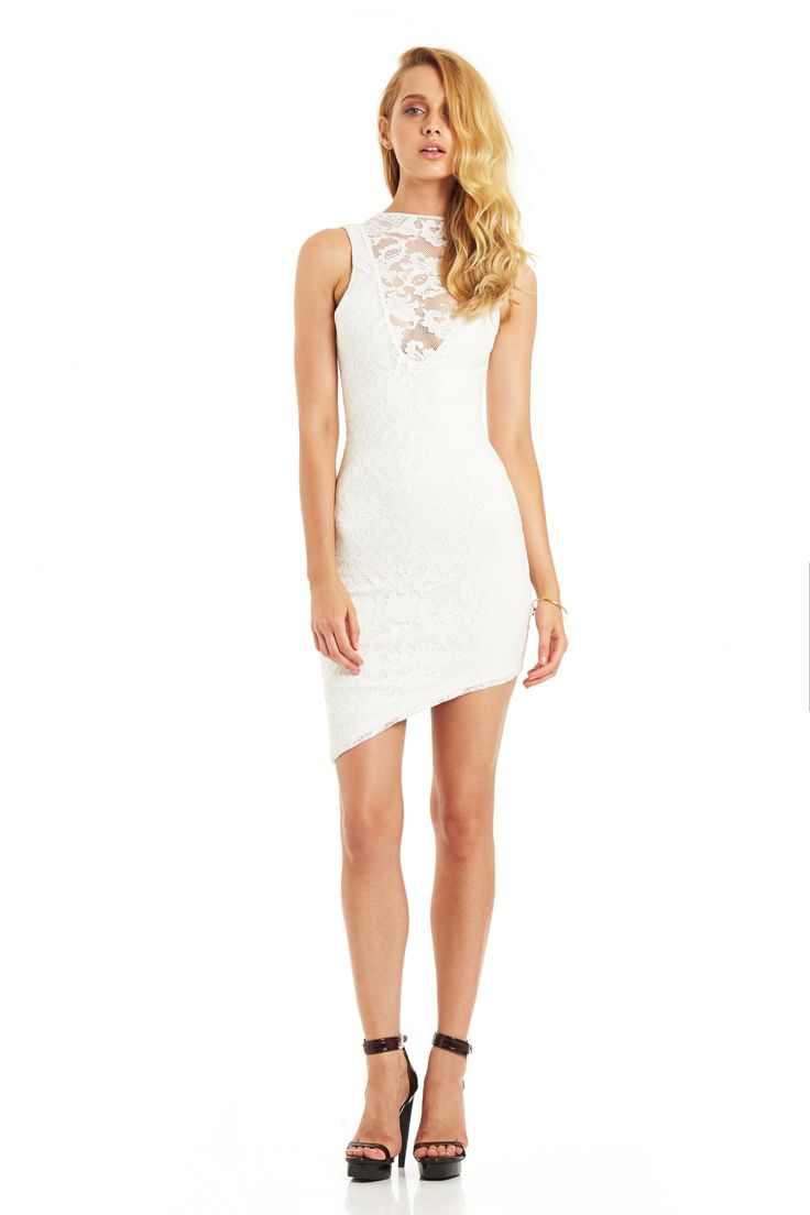 RENEGADE LACE DRESS (White) #nookie #nt14