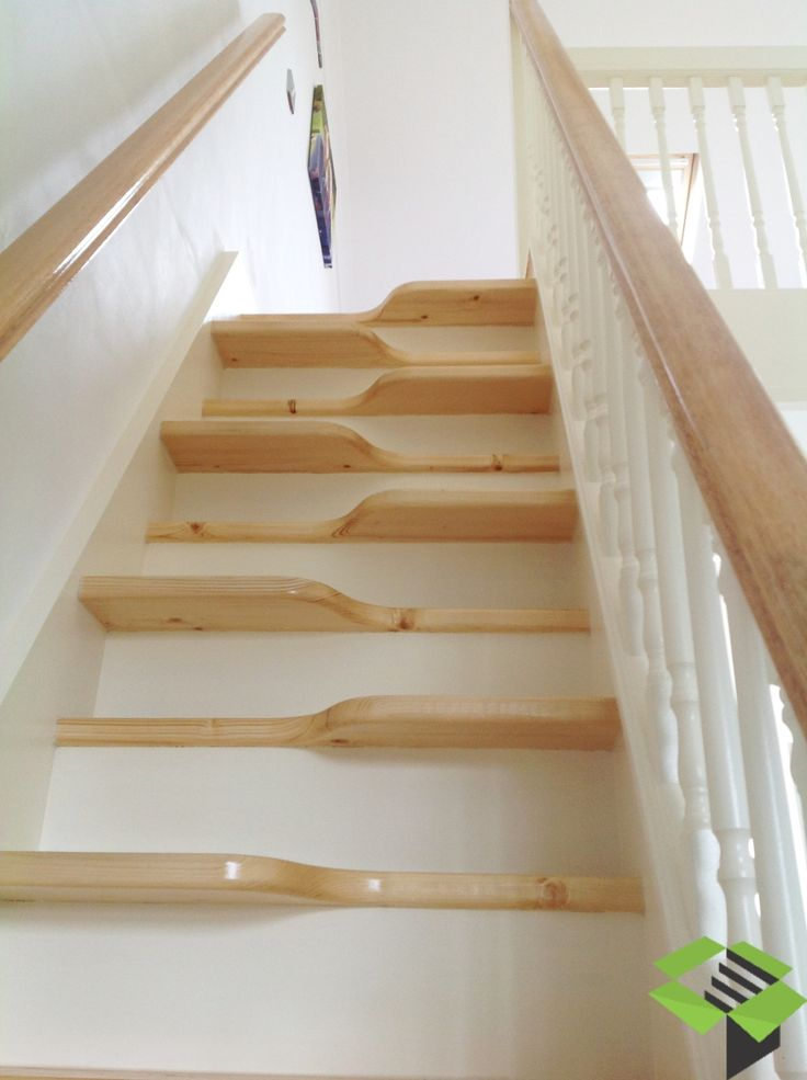 white and pine loft staircase