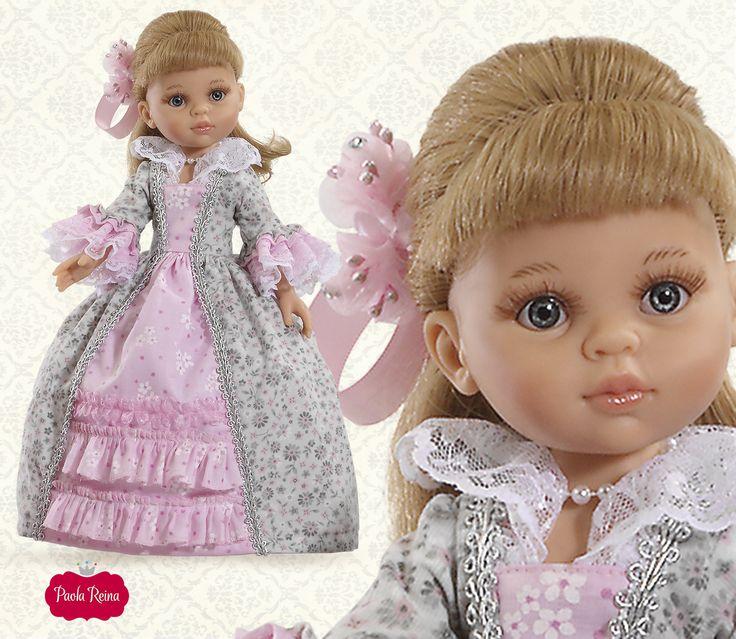 Carla con vestido clásico de época. S.XIX época del romanticismo, va preciosa! By Muñecas Paola Reina