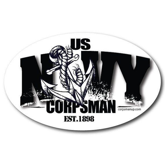 Navy Corpsman anchor military sticker