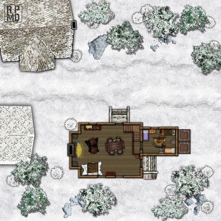 D&d Cabin Map Snow