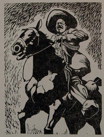 The great guerrilla Francisco Villa, 1877-1923.   Alberto Beltran, 1947.