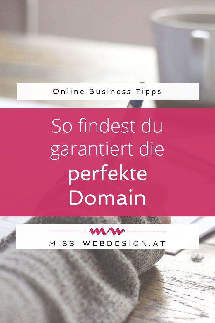 Die perfekte Domain zu finden ist keine leichte Aufgabe, aber mit diesen Tipps klappt es ganz bestimmt.   miss-webdesign.at #wordpress #business #domain