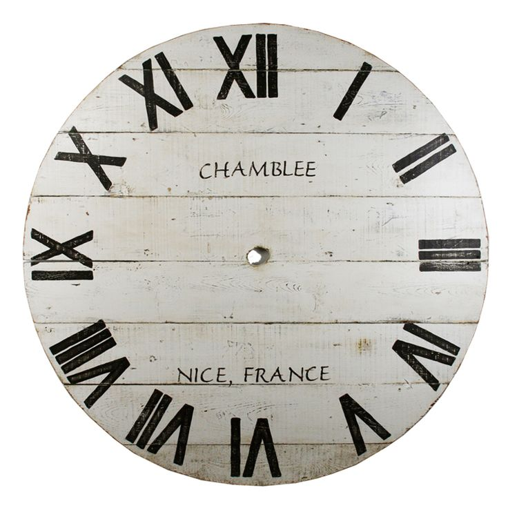 large wooden french clock