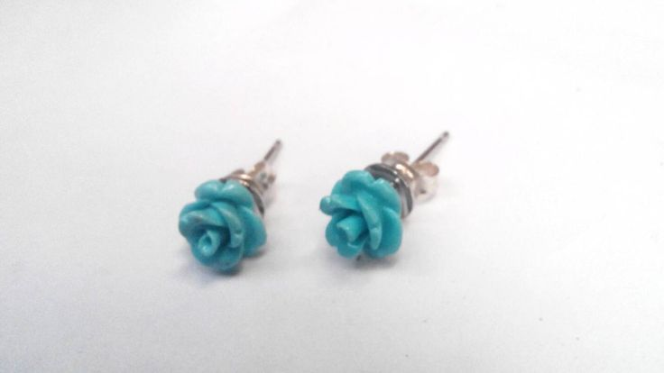 A personal favourite from my Etsy shop https://www.etsy.com/listing/454333368/turquoise-studs-turquoise-flower-silver