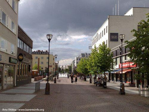 The city center of Kajaani