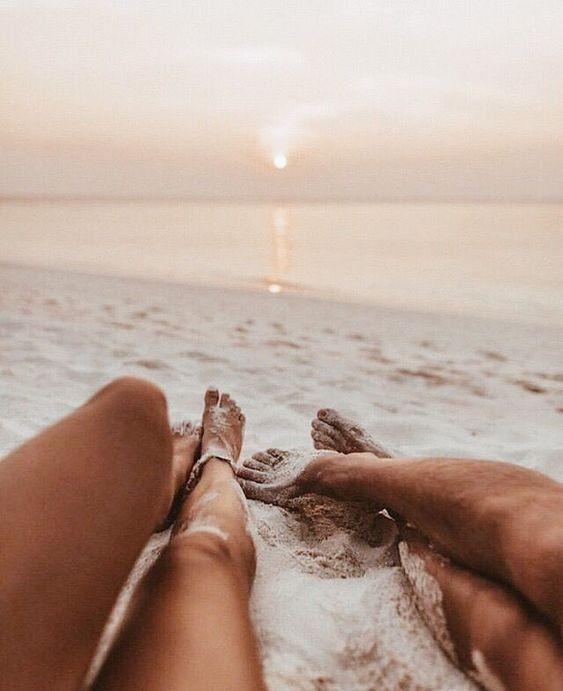 Summer mood | Couple goals | Holiday | Holiday | Sun | Beach | Sea | Romantic | Legs | Sunset | Lo …