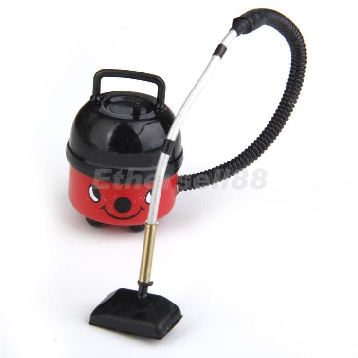 1/12 Dolls House Miniature Furniture Cute Red Modern Vacuum Cleaner