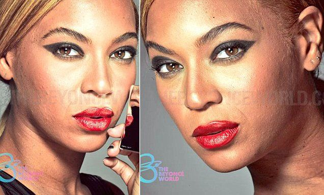 Fans of Beyonce have lashed out on Twitter, after more than 200 alleged unretouched photos from her 2013 L'Oreal cosmetic campaign were leaked on a fan site called The Beyonce World.