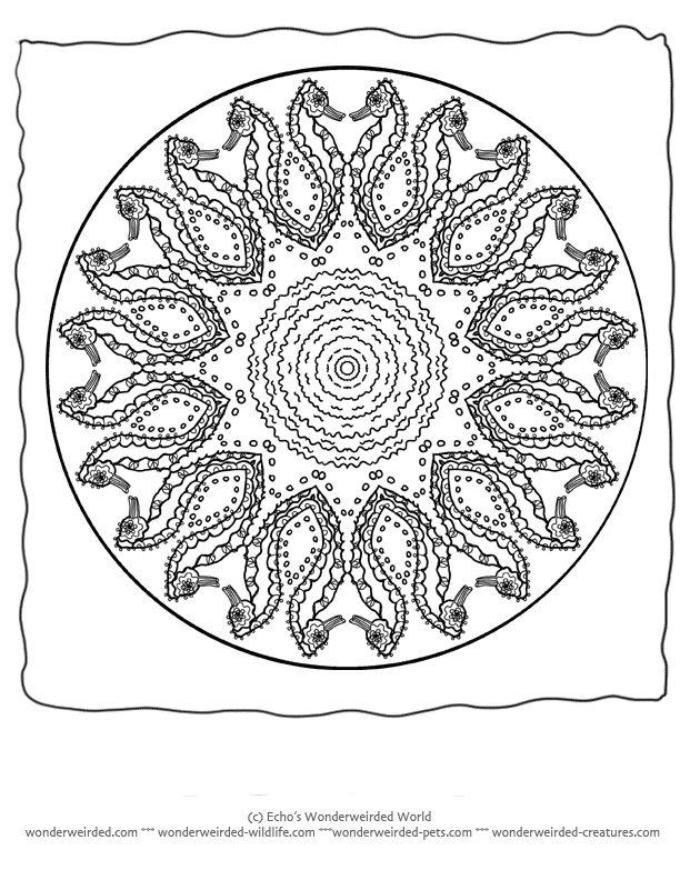 ocean mandalas coloring pages - photo #21