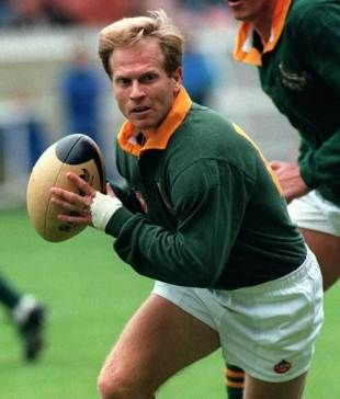 "Hendrik Egnatius ""Naas"" Botha: (born 27 February 1958) is a Northern Transvaal and Springboks former Rugby player. He mostly played in the fly-half position. Botha was best known for extremely accurate (both left- and right-footed) kicking, which earned him the nickname ""Nasty Booter"" from the British press. He is best remembered for his abilities as a very successful drop-kicker in high pressure situations and is also considered to have had an outstanding tactical understanding of rugby."