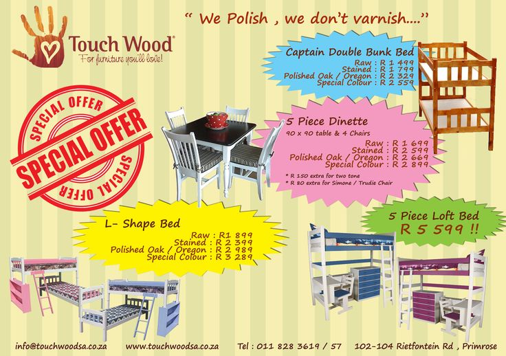 Great specials @ Touch Wood Furniture !!