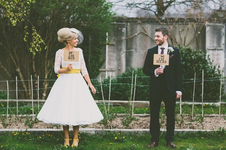 Bride and groom from a 1950s inspired wedding | Photography by http://www.campbellphotography.co.uk/