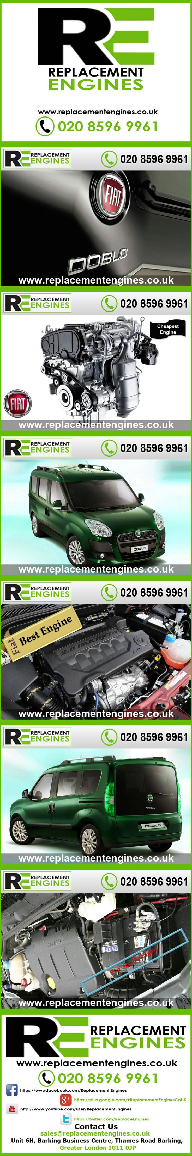 Fiat Doblo Engines for sale at the cheapest prices, we have low mileage used & reconditioned engines in stock now, ready to be delivered to anywhere in the UK or overseas, visit Replacement Engines website here.  http://www.replacementengines.co.uk/car-md.asp?part=all-fiat-doblo-engine&mo_id=1001