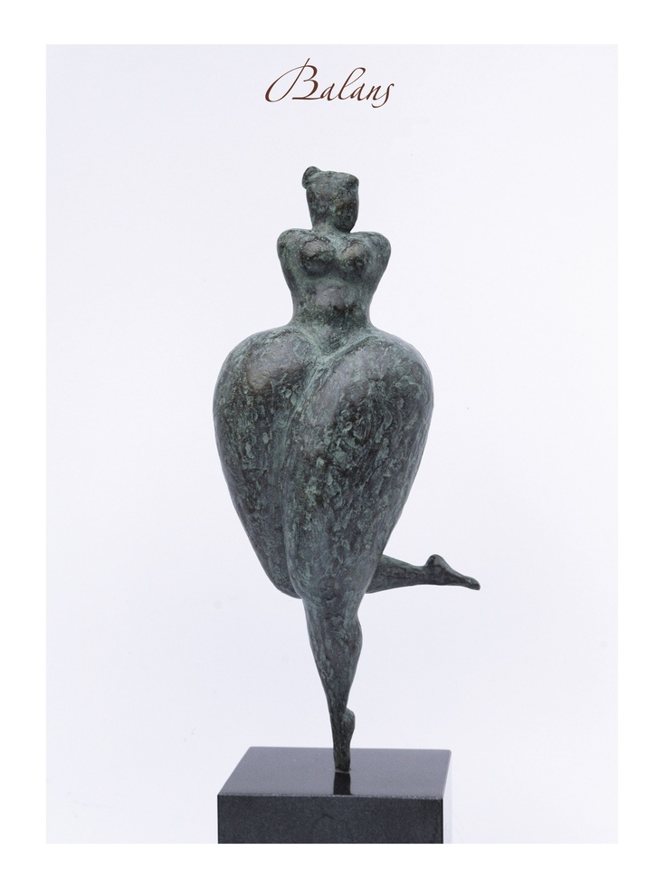Bronze sculpture 'BALANS' by Rob Donders