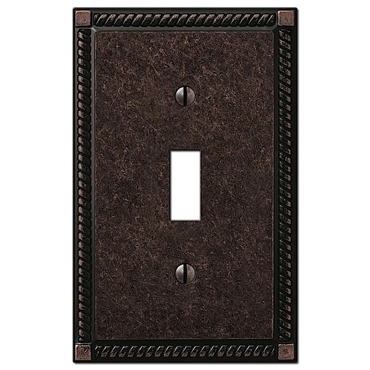 hampton bay georgian 1 toggle wall plate aged bronze at the home depot tablet
