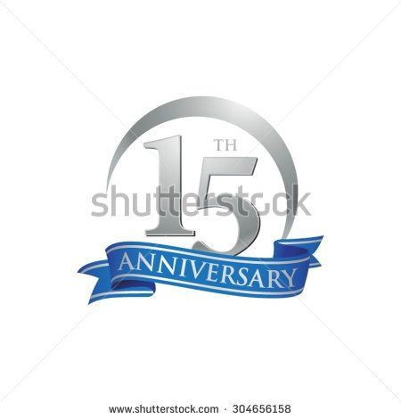 anniversary ring logo blue ribbon 15