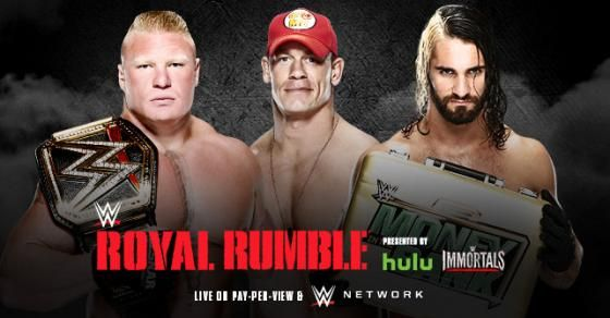 #WWE World Heavyweight Champion Brock Lesnar vs. John Cena vs. Seth Rollins at Royal Rumble 2015
