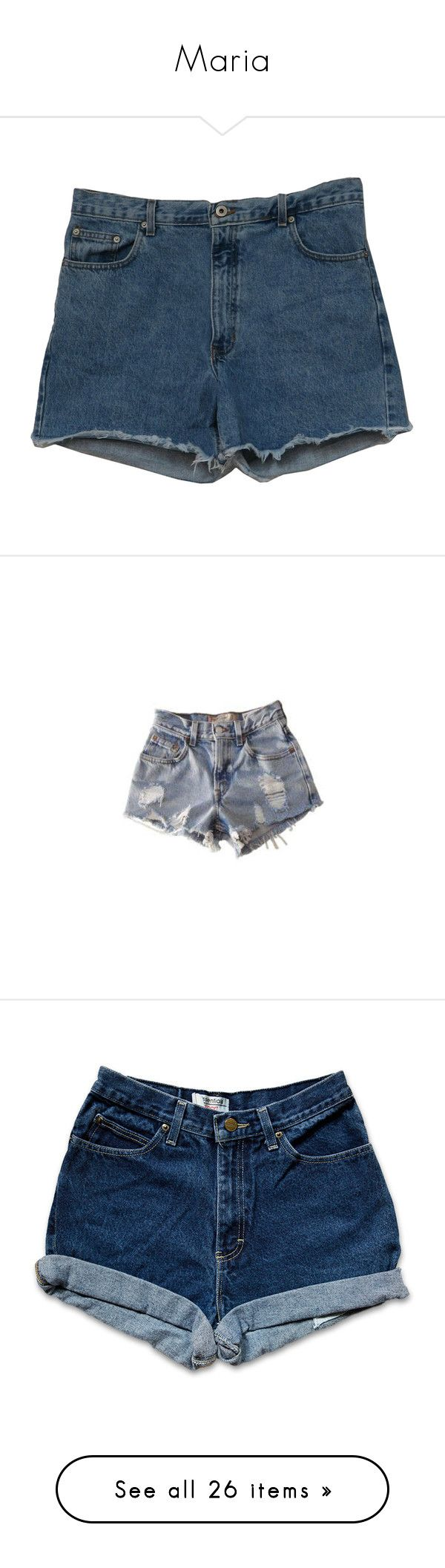 """Maria"" by the-iconic-nika ❤ liked on Polyvore featuring shorts, bottoms, pants, short, cut off short shorts, light blue shorts, gold shorts, hot cut off shorts, hot shorts and jeans"