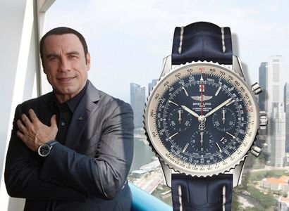 John travolta breitling navitimer celebrities watches pinterest breitling navitimer for John travolta breitling