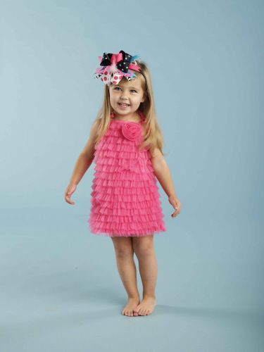hot pink chiffon ruffle dress: Ruffle Dress, Pink Chiffon, Chiffon Ruffle, Dresses, Baby Girl, Hot Pink, Mud Pie, Ruffles, Kid