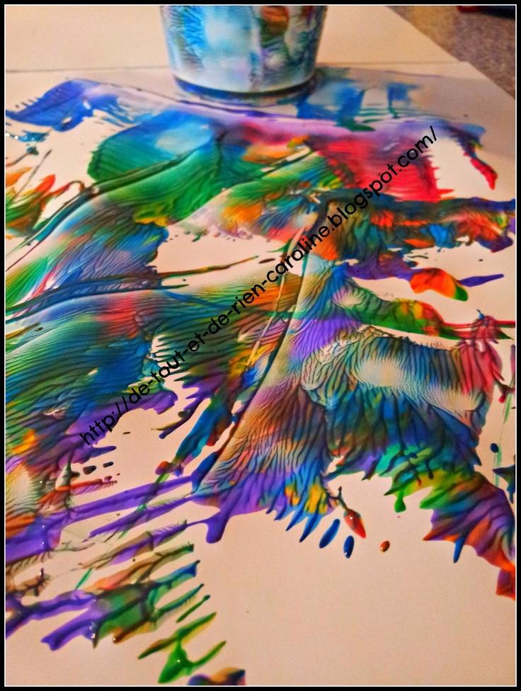 De tout et de rien: Activités pour le Préscolaire: Rainbow paint rolling cup technique - Peinturer en roulant un verre dans la peinture