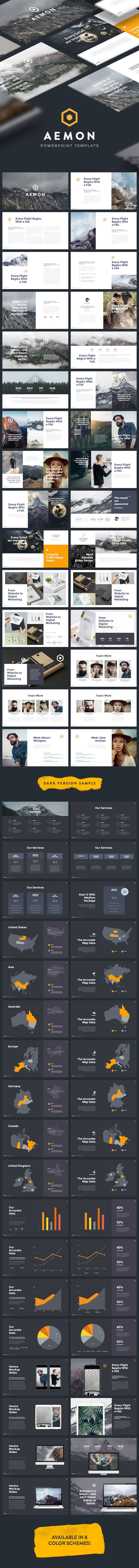 Minimal & Creative Powerpoint Template (Aemon)