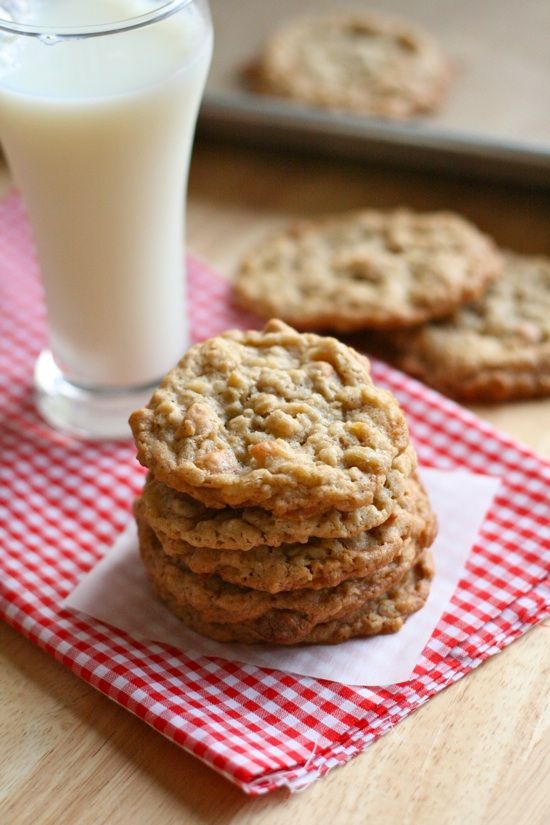 Peanut Butter Coconut Oatmeal Scotchies | Recipe | Baking biscuits ...