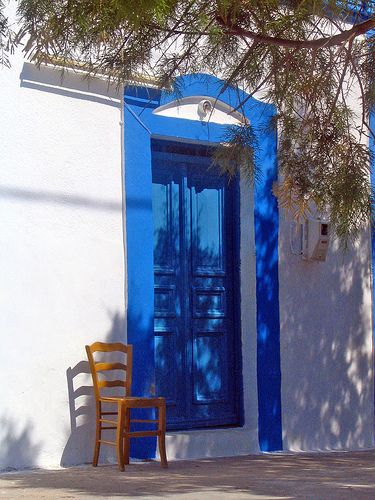 white and blue @ #Pserimos a small #Greek island in the #Dodecanese #Greece #travel #ttot #travelling2GR @visitGreecegr   Photo via: Cees http://www.flickr.com/photos/22858517@N08/2348410268/