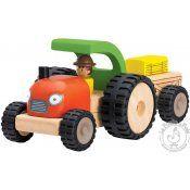 Tracteur et remorque en bois - Wonderworld