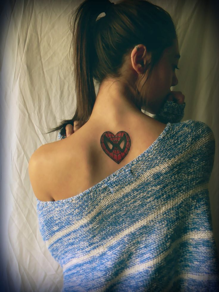 Spiderman heart tattoo. Hurt like hell but worth every penny:)