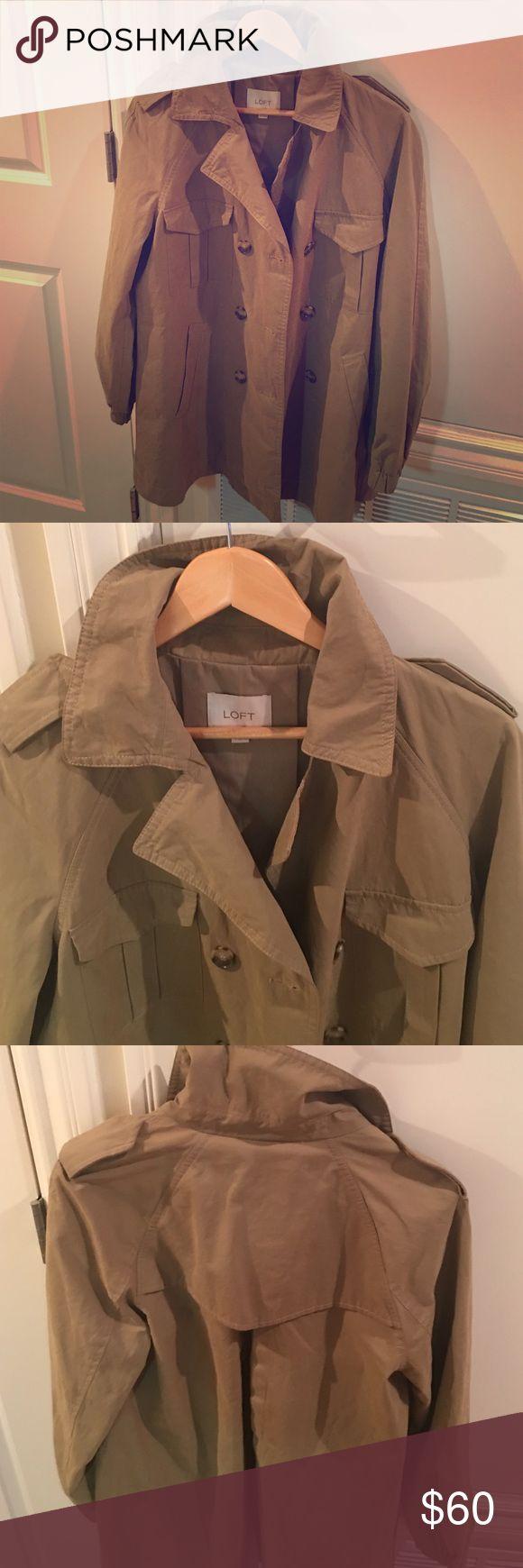 Ann Taylor Loft khaki trench coat NWOT. Ann Taylor Loft khaki trench coat. Modern fit - perfect for fall! Ann Taylor Jackets & Coats Trench Coats