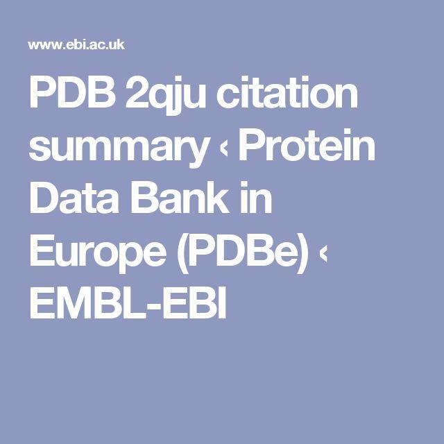 PDB 2qju citation summary ‹ Protein Data Bank in Europe (PDBe) ‹ EMBL-EBI