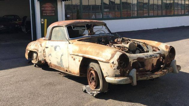 1957 Mercedes-Benz 190SL Barn Find! #Projects #Mercedes - https://barnfinds.com/1957-mercedes-benz-190sl-barn-find/