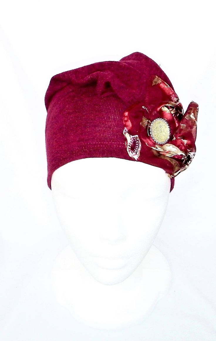 Women chemo headwear,burgundy beanies,chemo beanies,berets,headcovers,cancer hats, chemo hats,haircovering, chapeaux de chimio femmes,bonnets de chimio,bérets bourogne, chapeau cancer, by BleukaktusHats on Etsy