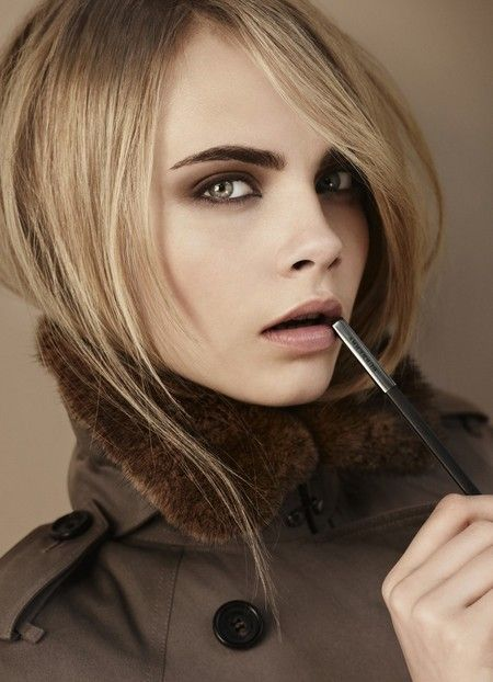 Wedding make-up inspiration: Burberry's new AW12 beauty collection with Cara Delevingne. Gorgeous smokey eye look www.handbag.com