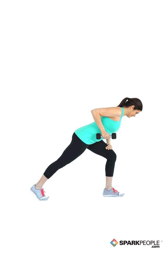 Dumbbell Triceps Kick Backs Exercise Demonstration via @SparkPeople