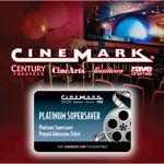 Cinemark® Theatres Platinum Supersaver Movie Cards 4 - pack