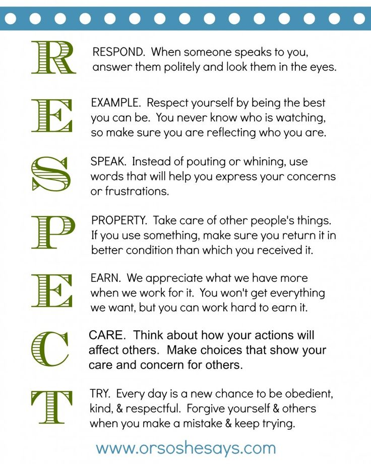1000+ ideas about Teaching Respect on Pinterest | Respect Lessons ...