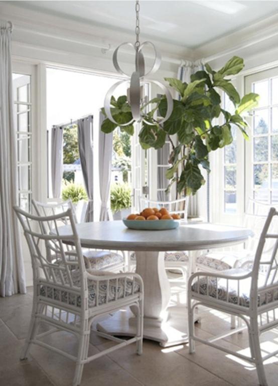 Verandah House Interiors ~ These Chairs | ::: DINING In ::: | Pinterest |  Pedestal, Cane Furniture And The Plant