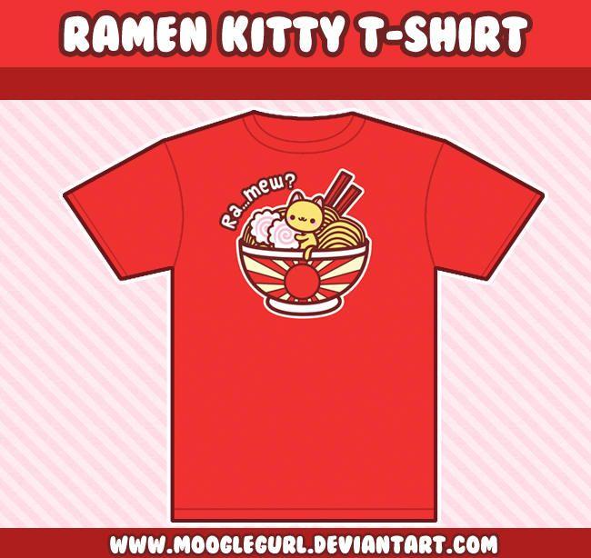 Download Ramen Kitty T Shirt By Mooglegurl T Shirt Shirts My T Shirt