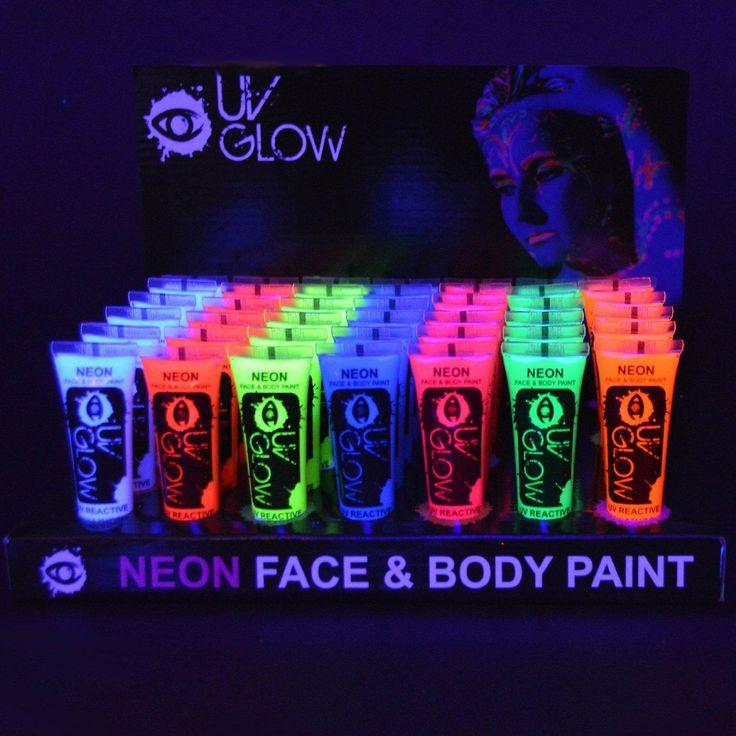 Fluorescente UV Neon verf voor gezicht en lichaam van 6 X 10ml Tubes - gloed partij Clubbing Festival Rave | Fruugo