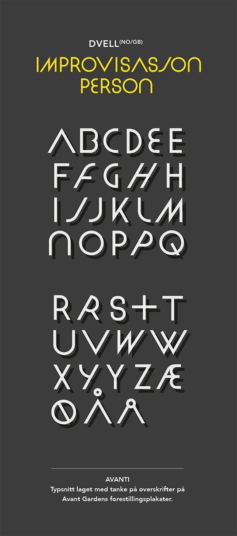 Custom font Avant Garden - Klipp og Lim